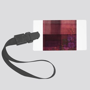 burgundy touch Luggage Tag
