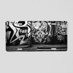 Tracks-004poster Aluminum License Plate