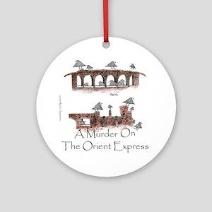 Murder on the Oriental Express 10x1 Round Ornament