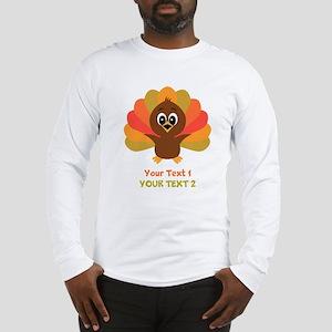 Personalize Little Turkey Long Sleeve T-Shirt