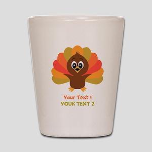 Personalize Little Turkey Shot Glass