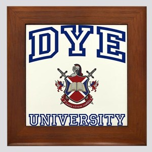 DYE University Framed Tile