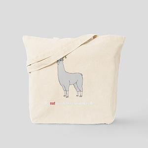 llama8-black Tote Bag