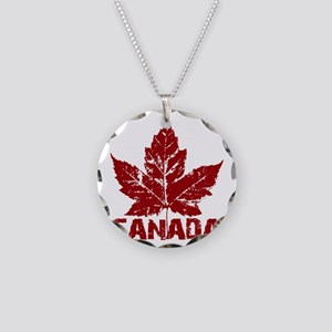 canada-maple-leaf Necklace Circle Charm