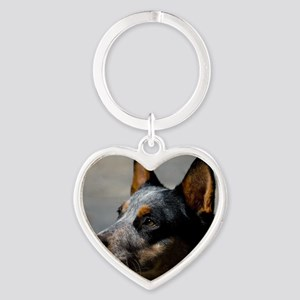 Australian Cattle Dog Heart Keychain