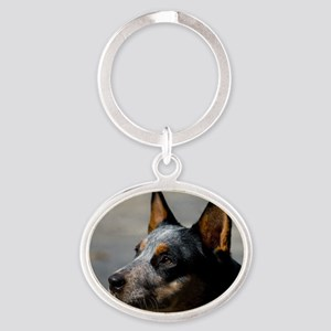 Australian Cattle Dog Oval Keychain