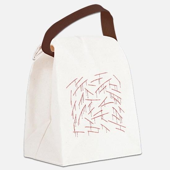 fix3-stabblack Canvas Lunch Bag