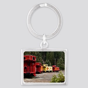(6) caboose line Landscape Keychain