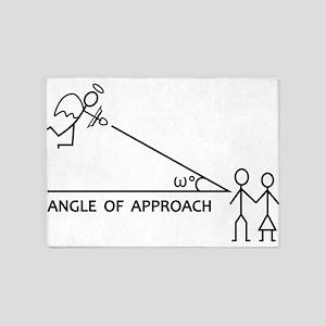 angle of aproach 5'x7'Area Rug