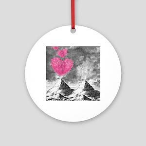volcanoes image Round Ornament