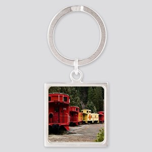 (4) caboose line Square Keychain