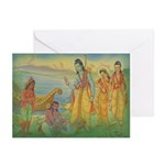 Kevat washes Ram's feet Cards (Pk of 10)