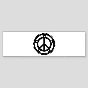 peace chainring sticker Bumper Sticker
