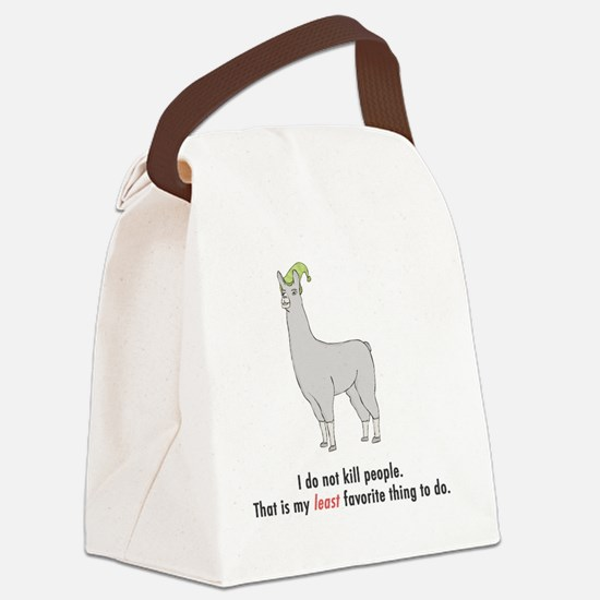 llama2-white Canvas Lunch Bag