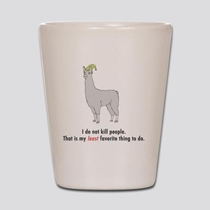 llama2-white Shot Glass