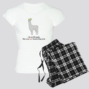 llama2-white Women's Light Pajamas