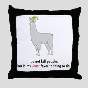 llama2-white Throw Pillow