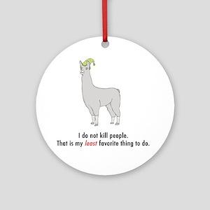 llama2-white Round Ornament