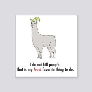 "llama2-white Square Sticker 3"" x 3"""
