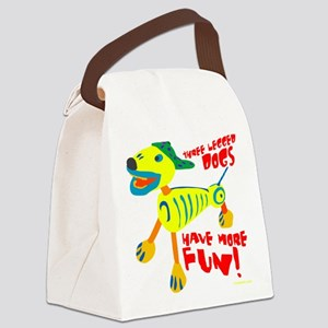 Three Legged Dogs Have More Fun D Canvas Lunch Bag