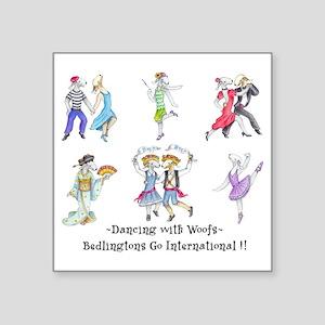 "Shirts-light-Dancing Bedlie Square Sticker 3"" x 3"""