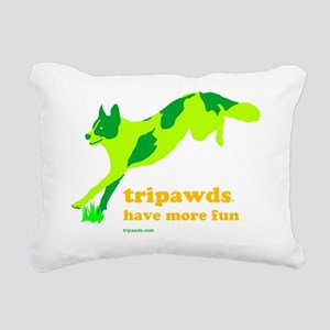 Three Legged Dogs Have M Rectangular Canvas Pillow