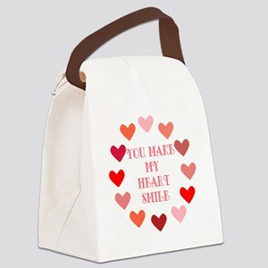 heart smile Canvas Lunch Bag