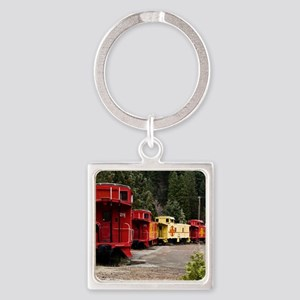 (2) caboose line Square Keychain