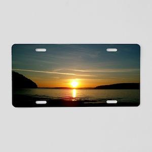 sunset2 Aluminum License Plate