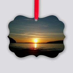 sunset2 Picture Ornament