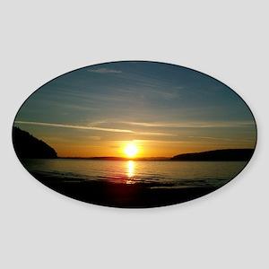 sunset2 Sticker (Oval)