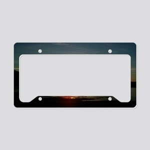 sunset2 License Plate Holder