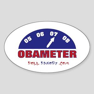 Obameter '08 Oval Sticker
