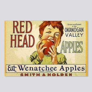RED HEAD APPLES Postcards (Package of 8)