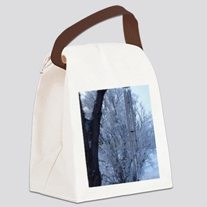 winter chimes Canvas Lunch Bag