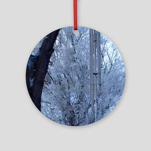 winter chimes Round Ornament