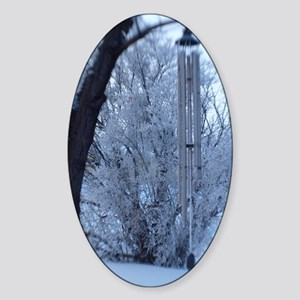 winter chimes Sticker (Oval)