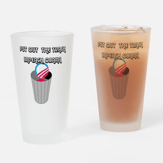 IMPEACH OBAMA Drinking Glass