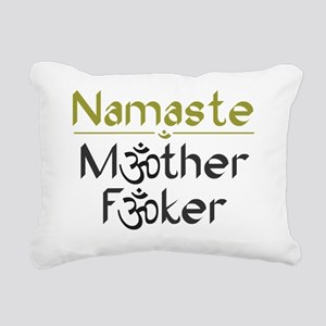 Namaste M*ther F*ker Rectangular Canvas Pillow