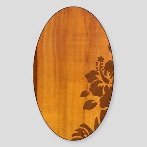 koahibiscuspadcase Sticker (Oval)