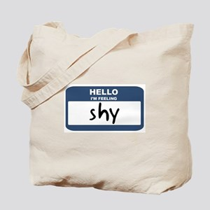 Feeling shy Tote Bag