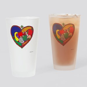 Healthy Heart 10x10_all Drinking Glass