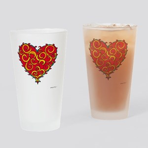 Chaos Heart 10x10_all Drinking Glass