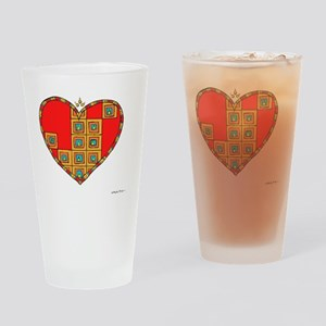Courageous Heart 10x10_all Drinking Glass