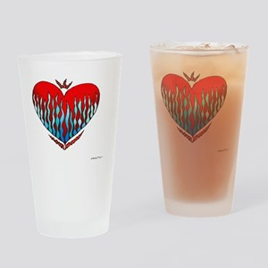 Fire  Ice Heart 10x10_all Drinking Glass