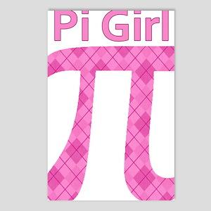 Pi Girl Pink Argyle Postcards (Package of 8)