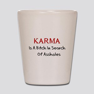 Karma Is A Bitch Shot Glass