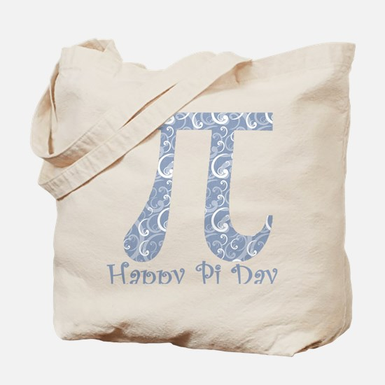 Chambray Swirls Pi Day Tote Bag