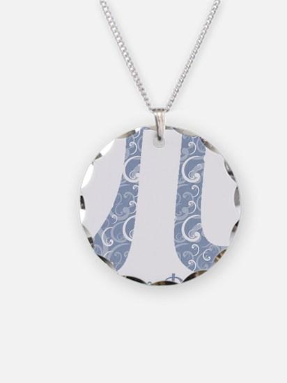 Chambray Swirls Pi Day Necklace