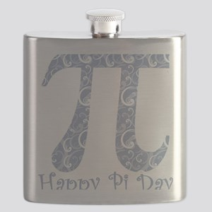 Chambray Swirls Pi Day Flask
